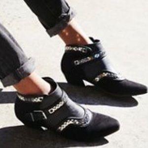 Free People Farylrobin Vegan Valor Black Boots